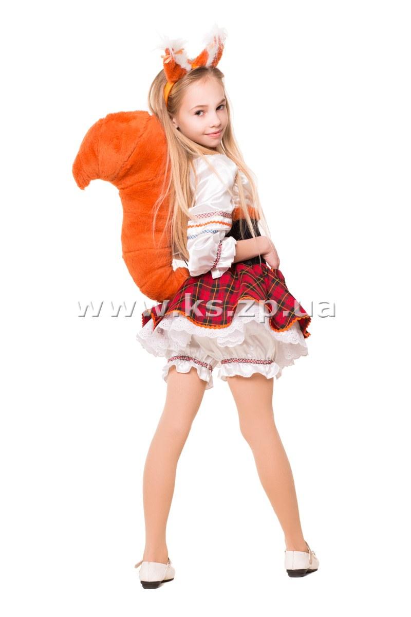 Детский костюм белочки на новый год для девочек