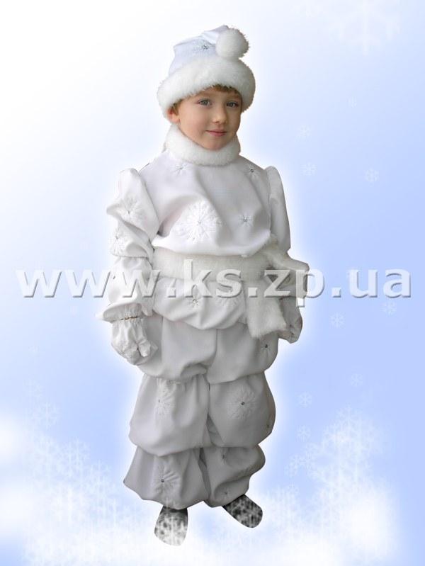 Костюм снежка для мальчика своими руками
