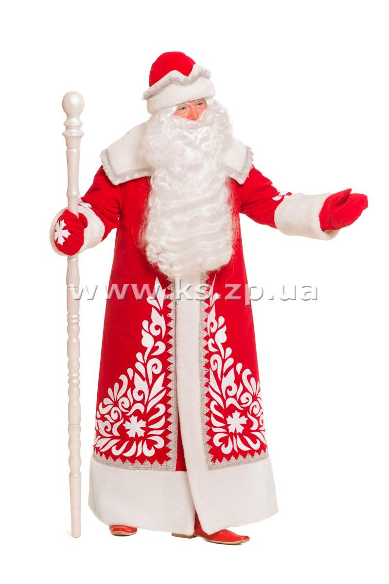 Костюм Деда Мороза «Сказка замшевый». В комплект костюма входит  пальто,  шапка d3bb3afa047