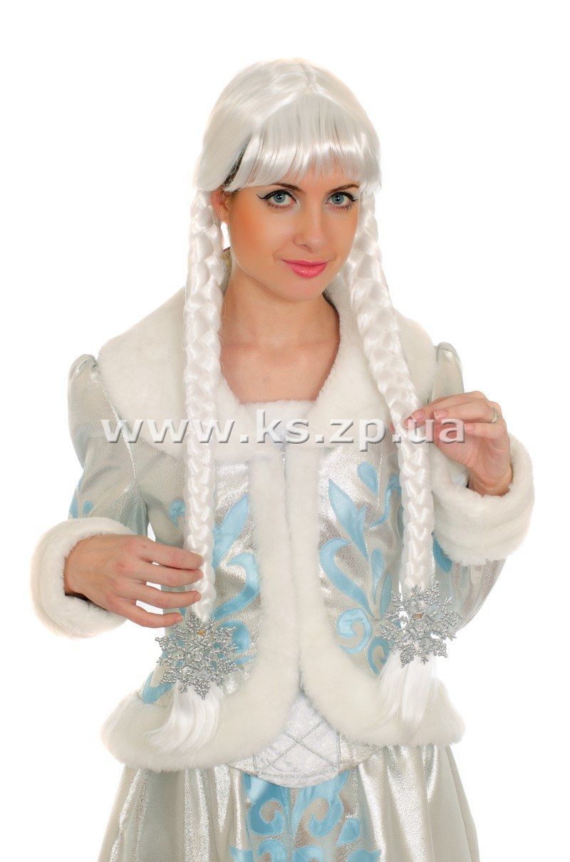 Парик Снегурочки с косами Карнавальные костюмы для детей и взрослых, организация детских праздников в Запорожье, вызов Деда Моро